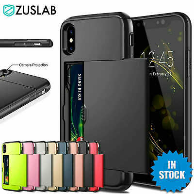 AU8.95 • Buy For IPhone X XS Max XR IPhone 8 Plus IPhone 7 Plus Wallet Card Holder Case Cover