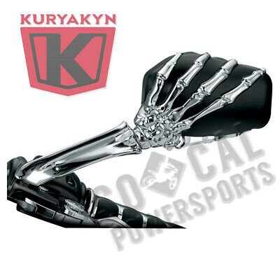 $109.08 • Buy Kuryakyn 1759 Skeleton Hand Mirrors Chrome/Black