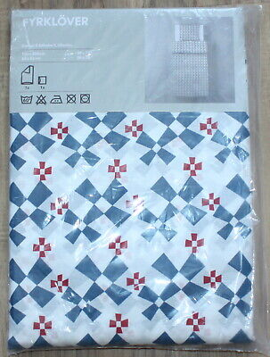 IKEA Fyrklöver Duvet Cover 59x79  + Pillowcase New In Package MIP Quilt Cover • 20.03£