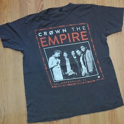 $11 • Buy Crown The Empire Tour T Shirt Size Large 2016 Gray Red