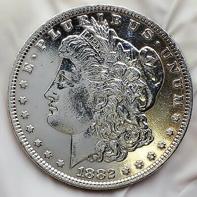 $47 • Buy 1882-o Unc Gem Ms+ Mirror Like Morgan Silver Dollar 90% Silver $1 Coin Us #dd110