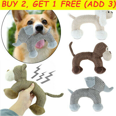 *Chew Toys For Dogs Indestructible Stuffed Squeaky Toy Sound Squeaker Aggressive • 5.12£
