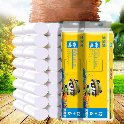 AU61.82 • Buy 9-18pcs Roll Toilet Paper Native Wood Soft Toilet PaperStrong WaterAbsorptionST8