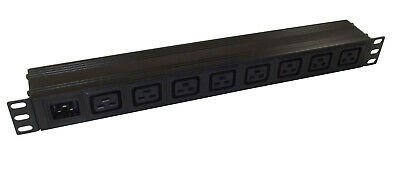 8 Way IEC C19 PDU With C20 Power Inlet  For *DETACHABLE LEAD* 1U 19  Rackmount • 25.14£