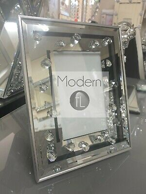 Mirrored Floating Crystal 6x4 Photo Frame, Crystal Jewel Photo Frame  • 12.99£