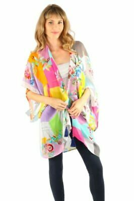 $117 • Buy Johnny Was Silk Floral Printed Kimono Boho Chic 12345JW NEW