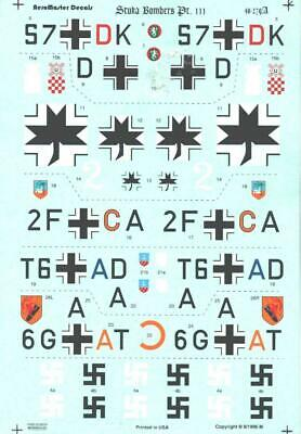 $16.99 • Buy 1:48 Stuka Bombers Pt III Junkers SuperScale Model Decals Sheet NOS 48-279