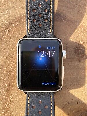 $ CDN174.87 • Buy Apple Watch Series 3 42mm Silver Alum Case GPS + Cellular With Leather Band