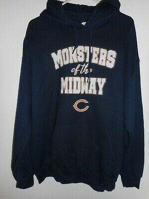 $14.99 • Buy Gildan Navy Blue L Chicago Bears 'monsters Of The Midway' Pullover Hoodie!!