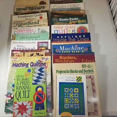 $29.98 • Buy Quilting Lot Of 20 Books Leaflets Calendar Crazy Applique Country