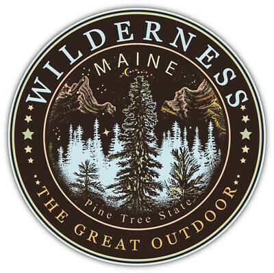 $4.25 • Buy Maine USA State Badge Car Bumper Sticker Decal   SIZES