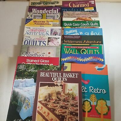 $29.98 • Buy Quilting Book Lot Of 18 Books Leaflets Calendar Birds Thimbleberries Charm