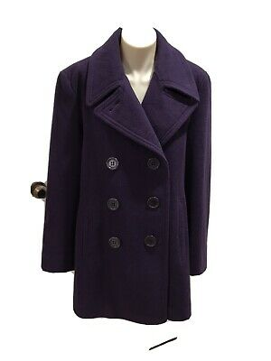 AU80 • Buy RM WILLIAMS Womens Purple Double Breasted Wool Blend Short Coat Size 14 EUC