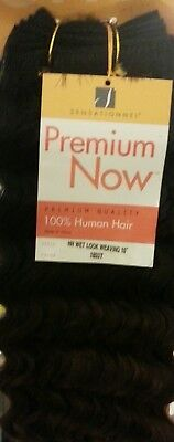 Sensationnel Premium Now 100% Human Hair New Wet Look WVG 10  Colour 1B33T • 14.99£