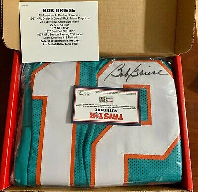 $ CDN113.07 • Buy BOB GRIESE HOF Tristar Authentic AUTOGRAPHED Miami Dolphins Jersey🔥🔥