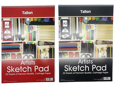 A3 Sketch Pad Spiral Book White Paper Artist Sketching Drawing Doodling Art New • 4.74£