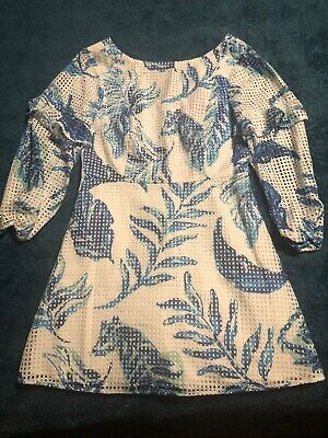 $54 • Buy Lilly Pulitzer No Place Like Roam Laurie Romper Size 8