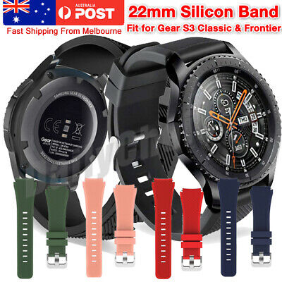 AU6.69 • Buy For Samsung Gear S3 Frontier Classic Fashion Sports Silicone Bracelet Strap Band