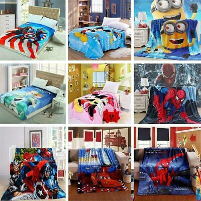 Napping Blanket Cozy Flannel Cartoon Bedding Throws For Kids Teens 1.5*2.0 M • 17.59£