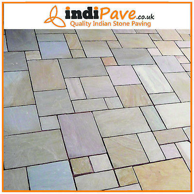 £395 • Buy Raj Blend Calibrated 22mm Project Pack 18.90m2 Indian Paving Stonestone Slabs