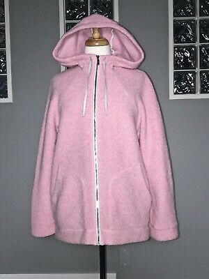 $ CDN80 • Buy Lululemon So Sherpa Hooded Jacket 8 Heathered Pink Haze Teddy Coat To And From