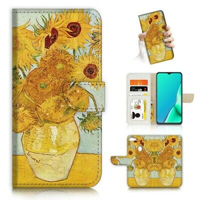 AU12.99 • Buy ( For Oppo A73 ) Flip Wallet Case Cover PB23195 Van Gogh Sunflowers