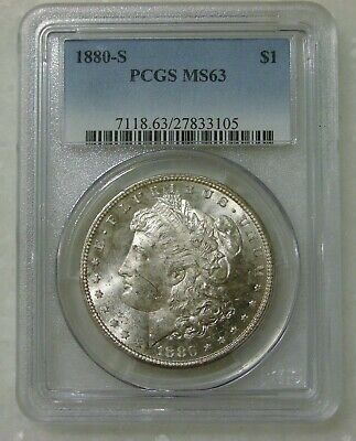 $13.50 • Buy 1880 S - Morgan Silver Dollar - PCGS MS 63