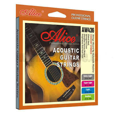 $ CDN10.57 • Buy Alice Acoustic Guitar Strings Extra Light 10-47 Phosphor Bronze Coated Set Pack