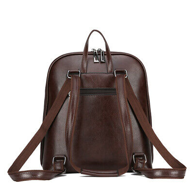 AU58.56 • Buy Women's Backpack Leather Fashion Laptop Rucksack Female Casual Large Capacity