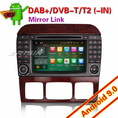 $545.15 • Buy 8-Core Android 9.0 Car Radio DAB GPS SWC For Mercedes S/CL Class W220 W215 S500