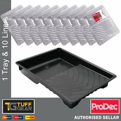 Prodec 9  Paint Tray + 10 X Tray Liners Quick Colour Changes 9 Inch Roller Kit • 9.99£