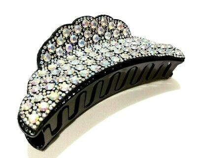£8.99 • Buy New Large Sparkly Diamante Bling Wide Hair Clip Claw Grip Butterfly Clamp