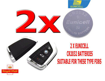 £2.49 • Buy 2 X Eunicell Batteries For Bmw X5 X4 X3 Series Key Fob Cr2032