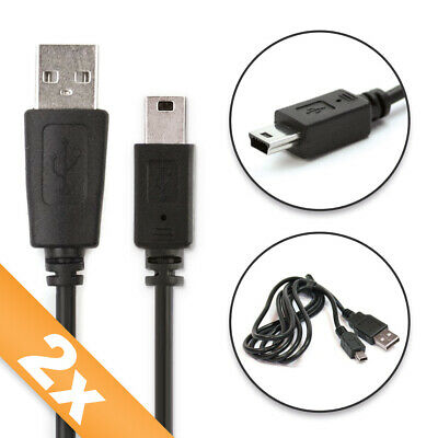 £15.90 • Buy 2x USB Data Cable For TomTom Rider Regional Rider Pro Black Connection Lead