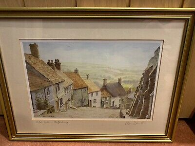 'Gold Hill Shaftesbury' Framed Print Signed By The Artist Robin Davidson • 8.15£
