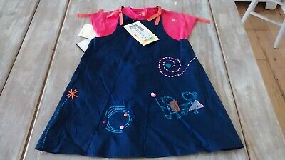 SAVE£40 Marese Designer Girls 2pce Cute Pinny And Tee Dress Set 3yrs Rrp£65.99 • 25.99£