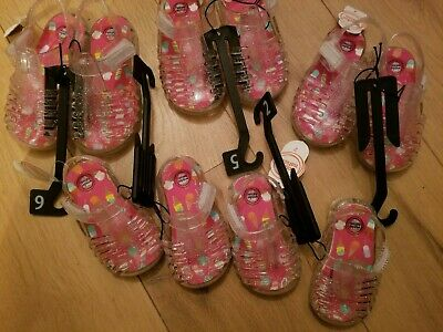 $7.99 • Buy New Wonder Nation Toddler Girl's Jelly Sandals Clear Glitter Size 2,3,4,5,6