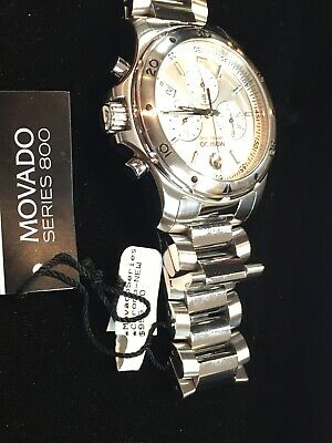 Movado Series 800 Chronograph Swiss Made Steel Watch Display Model With Tags • 289.40£
