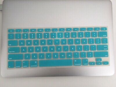 $6.21 • Buy MacBook Rubber Keyboard Cover Removeable,  Blue