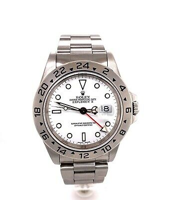 $ CDN8421.96 • Buy Rolex Explorer II 16570 White Dial Stainless Steel Watch