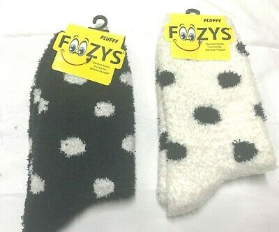 $7.65 • Buy 2 Pairs Foozy Fluffy Womens/Girls Novelty Socks Foozys