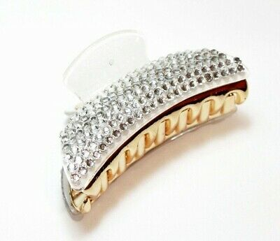 £4.99 • Buy New Ladies White Diamante Hair Clip Claw Grip Butterfly Clamp