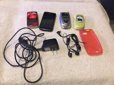 $ CDN89.99 • Buy Lot Of 4 Cell Phones 2 Lg Telus 1 Bell Sanyo And A Samsung