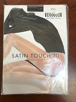 Ladies WOLFORD Satin Touch 20 Sheer Tights Small Black (NEW) • 14.50£