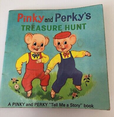 £3.99 • Buy Pinky And Perky's Treasure Hunt Tell Me A Story Book 1967 Purnell BBC TV