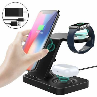 $ CDN40.99 • Buy MoKo 5 In 1 Wireless Charger Stand For Apple Watch Series 5/4/3,Air-pods,iPhone