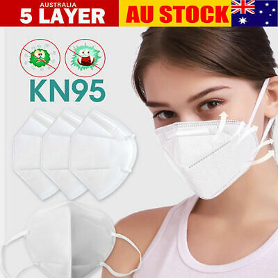 AU69.95 • Buy 10 X Face Masks CE N95 5 Layer Breathable Adult Face Cover Anti Dust