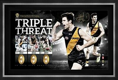 AU189 • Buy Richmond Tigers -trent Cotchin Signed & Framed Jack Dyer Medalist Lithograph