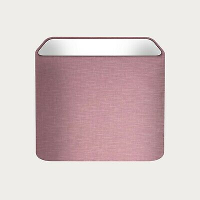 £30.50 • Buy Lampshade Mauve Textured 100% Linen Rounded Square Light Shade