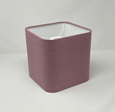 £30.50 • Buy Mauve  100% Textured Linen Rounded Square Lampshade Light Shade